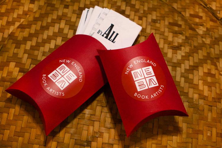 NEBA's Zine swap pillow box with 2020 zine collection